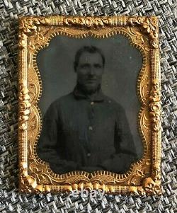 CIVIL War Union Soldier Ambrotype Photographic With Thermoplastic Case
