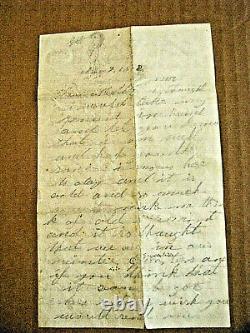 CIVIL War Vermont Soldier Letter Killed At Gettysburg