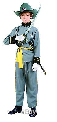 CONFEDERATE OFFICER CHILD COSTUME CIVIL WAR SOLDIER BOY UNIFORM SM MED LG 90091