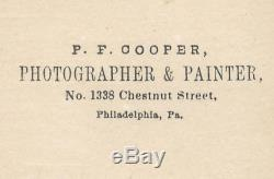 Ca 1860's CIVIL WAR CDV ARMED UNION CAVALRY SOLDIER by COOPER of PHILADELPHIA