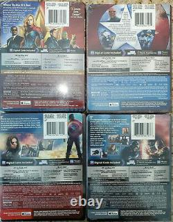 Captain America 1st Avenger+Winter Soldier+Civil War+Captain Marvel 4K STEELBOOK