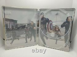 Captain America 1st Avenger+Winter Soldier+Civil War EMPTY STEELBOOK NO DISC, 4K