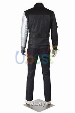 Captain America Civil War Bucky Barnes Winter Soldier Cosplay Costume