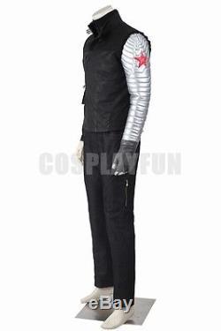 Captain America Civil War Bucky Barnes Winter Soldier Cosplay Costume Full Set