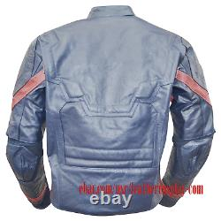 Captain America Civil War Steve Rogers Costume Leather Jacket / United We Stand