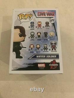 Captain America Civil War Winter Soldier Funko Pop Vinyl Figure RARE +PROTECTOR