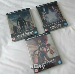 Captain America First Avenger / Winter Soldier / Civil War 4K Blu-ray Steelbooks