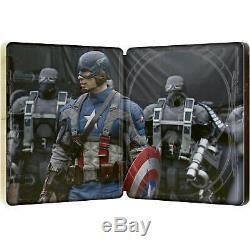 Captain America First Avenger Winter Soldier Civil War 4K SteelBooks x3 NEW