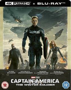 Captain America-First Avenger, Winter Soldier & Civil War 4K Steelbooks! New