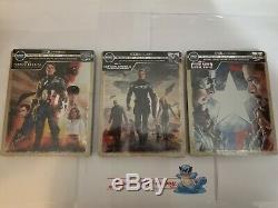 Captain America First Avenger/Winter Soldier/Civil War Steelbook 4K Blu-Ray 2 3
