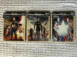 Captain America Steelbook Set 4K/Blu-Ray- First Avenger Winter Soldier Civil War