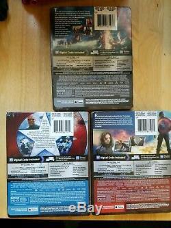 Captain AmericaTrilogy Civil War/ First Avenger/ Winter Soldier Steelbooks