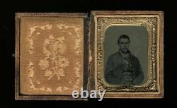 Cased Civil War Soldier Photo Early 1860s Possibly a Member of Hatfield Family