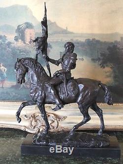 Cavalry Soldier Horse US Civil War Reeanactment Patriot Art Bronze Marble Statue