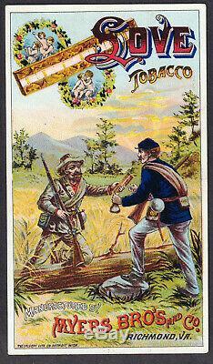 Civil War 1800's Richmond VA Love Tobacco Card North & South Soldier Swap Coffee