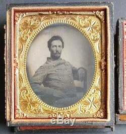 Civil War 6th Plate Tintype Tennessee Confederate Soldier 9th Plate Ambrotype