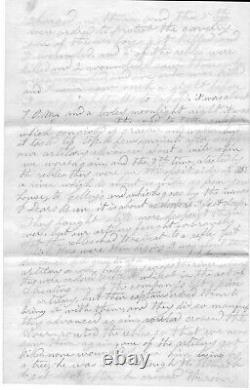 Civil War Battle Letter Of 5th MA Volunteers Describes Soldier Shot In Stomach