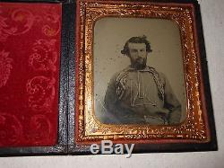 Civil War (Battle Shirts) Confederate Soldiers 1/6 Ambrotype Full Case