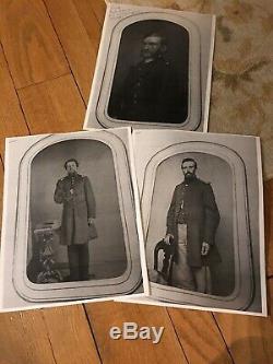 Civil War CDV Album Loaded 3 Identified Soldiers KILPATRICK Cavalry Artillery