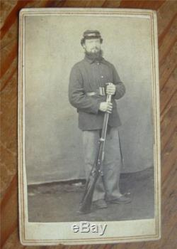 Civil War CDV Fully Dressed Soldier -NY 152nd Inf. Rgt