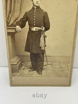 Civil War CDV Photo Union Lieutenant Soldier With Sword New York