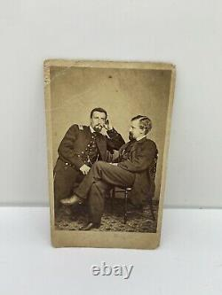 Civil War CDV Photo of 2 Union Soldiers Philadelphia