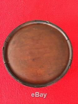 Civil War CONFEDERATE Wood Canteen with Soldier Engraving Doodles wood Drum