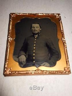 Civil War (Confederate) Soldiers 1/6 Plate Ambrotype Thermoplastic Case