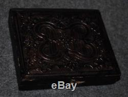 Civil War Confederate Soldiers 1/6 Plate Tintype Decorative Case & Mat