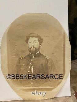 Civil War Era Union Soldier Unmounted Photograph lot US Amry Major Frank Gatis