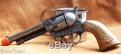 Civil War Gettysburg Soldier Die Cast Metal Cap Gun Pistol Italian Made 10014