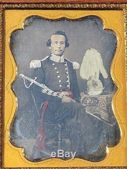 Civil War / Indian War Soldier Daguerreotype 3 x 4 in folding case