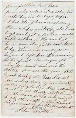 Civil War Letter Soldier 1864 Black Regiment Sickness Wife w another man 4p