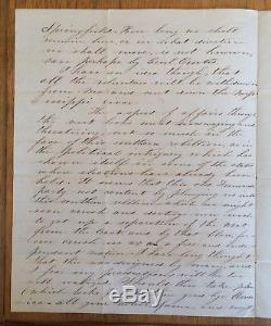 Civil War MO Soldiers Letter skirmish with rebels, killing 8, taking prisoners