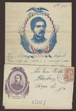 Civil War Norfolk 1862 McClellan Patriotic Cover, Illustrated Soldiers Letter