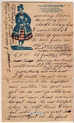 Civil War Patriotic (soldier's letter), Old Point Comfort to Panama, NY