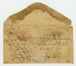 Civil War Postal Cover from Confederate States Soldier Dalton, Georgia Stamp