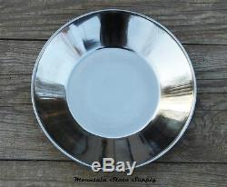 Civil War Reenactors Soldier's Army Dinner Plate Camp Mess Stainless Steel Dish