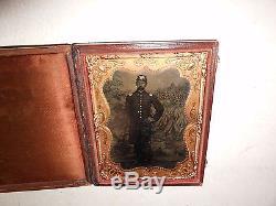 Civil War Soldier 1/4 Plate Tintype Full Case