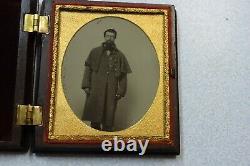 Civil War Soldier 1/6 Ambrotype George Washington Case