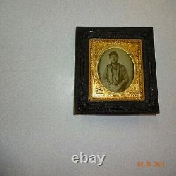 Civil War Soldier 1/6 Plate Daguerreotype Hanging Thermoplastic Wall Frame