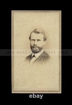 Civil War Soldier 24th NY Cavalry Reverend Samuel Stoddard, Signed CDV 1860s