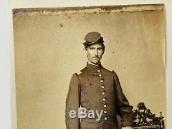 Civil War Soldier CDV Photo ID'd Captain Lyman Banks 11th Iowa 47th USCT