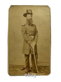 Civil War Soldier CDV Samuel Johnson Company F, 27th Pennsylvania with Sword