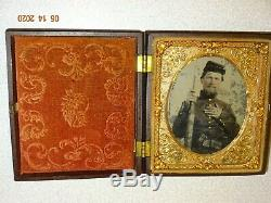 Civil War Soldier (Double Armed) 1/6 Plate Ambrotype Thermoplastic Case