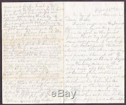 Civil War Soldier Letter A Jones 19th CT Camp near Alexandria Sept 23, 1862