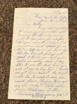 Civil War Soldier Letter July 27, 1862