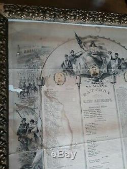 Civil War Soldier Memorial 2d Maine Battery Light Artillery 5 Photos Lithograph