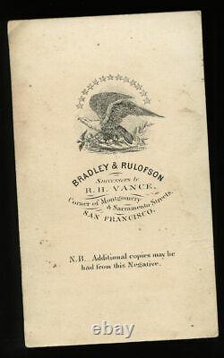 Civil War Soldier Or Navy Surgeon San Francisco California 1860s CDV Photo