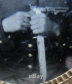 Civil War Soldier Photo Ambrotype Memorabilia withColt Revolver
